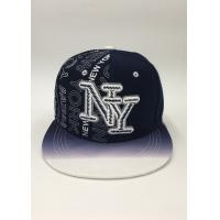 Quality Snapback Baseball Hat Black Dark blue Letter Embroidery Printing Gradient ramp for sale