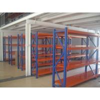 Wholesale 500kg cold rolled medium duty shelving , custom Blue / Orange long span shelving from china suppliers