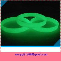 Wholesale glow in dark silicone bracelet from china suppliers