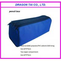 Wholesale polyester pencil case box, zipper pencil bag, pencil case, measure 20x9x6cm from china suppliers