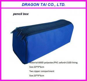 Wholesale polyester pencil case box, zipper pencil bag, pencil case, measure 20x9x6cm from china suppliers