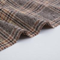 China Retro Plaid Wool Polyester Apparel Fabrics Tweed For Women Suit on sale