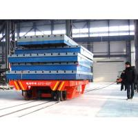 Wholesale 63t Conductor rail power rail transfer vehicle for steel plate handling from china suppliers