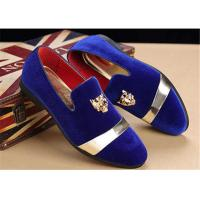 Wholesale Men'S Velvet Loafer Shoes With Personality Tiger Head Gold Buckle Red Bottom Shoes from china suppliers