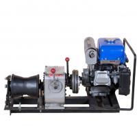 Wholesale Gas Powered Winch Portable Cable Pulling Machine Capacity 1 Ton Cbale Winch from china suppliers