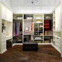 Wholesale PVC Finish White Walk In Closet / Wardrobe Traditional Design With Functional Accessories from china suppliers