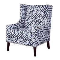 Wholesale Living Room Printed Accent Chairs Chair With Silver Nail Head Trim from china suppliers