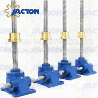 Wholesale 5 Ton Machine Screw Jack Lifting Screw Diameter 40MM Lead 7MM Gear Ratio 6:1 and 24:1 from china suppliers