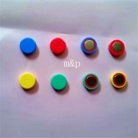 Wholesale Powerful Decorative Disc Shaped Small Colored Magnets 8mm Thickness from china suppliers
