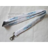 Wholesale High Quality Flat Tubular White Lanyard With Jacquard Logo from china suppliers