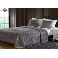 Wholesale Diamond Embossed Plush Fur Blanket PV Plush King Size Bedding Sets Durable from china suppliers