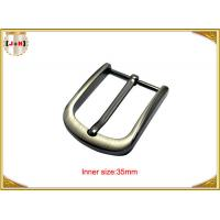 Wholesale 35mm Popular Silver Custom Metal Belt Buckle For Men Eco Friendly from china suppliers