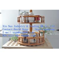 Wholesale eco-friendly rotatable wooden spice rack、Stands、storage racks from china suppliers