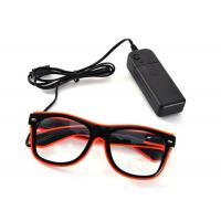 Wholesale Blinking Glasses Light Up Flashing LED Glasses El Wire for Party Concert from china suppliers