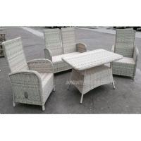 Quality Durable Garden Patio Table And Chairs , Wicker PE Rattan Outside Furniture Set for sale