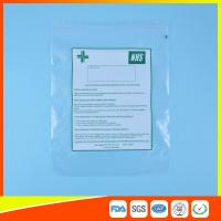 Wholesale Hospital Zip Up Plastic Sealable Bags / Small Resealable Plastic Bags Transparent from china suppliers
