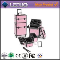 Wholesale pink diamond croc make up beauty cosmetic makeup trolley case professional make up case from china suppliers