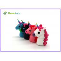 Wholesale New Style Cartoon Unicorn USB Flash Drives Real Capacity Horse Pen Drive 4GB 8GB 16GB 32GB 64GB Minions Memory Stick Pen from china suppliers