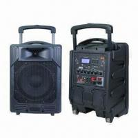 Wholesale PA System with U-disk/SD Recording Functions and Two Wireless Microphones in Dual Channels from china suppliers