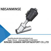 Wholesale SS 316 Plunger Pilot Slanted Seat Valve , Angle Body Valve Maintenence Free from china suppliers