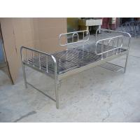 Wholesale Stainless Steel Hospital Furniture Medical Bed Manual with cranks from china suppliers