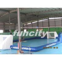 Wholesale inflatable giant football playgrounds with customized logo for commercial use from china suppliers