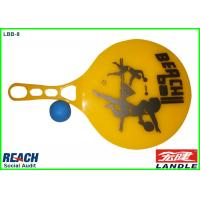 Wholesale Yellow PS Plastic Paddle Ball Racket , Transparent Or Not Transparent from china suppliers