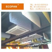 Buy cheap 50mm Fiberglass Acoustic Suspended Board Subway Station Used Sound Absorbing from wholesalers