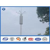 Wholesale Baseplate ASTM A 633 GRE Communication Pole 6 / 8 side 20 - 56 meters high from china suppliers