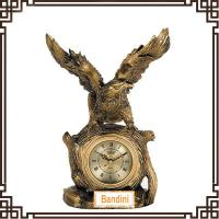 Wholesale Polyresin animal shaped Clock desktop clock new product clock 911AK from china suppliers