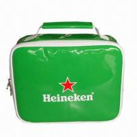 Wholesale Cooler Bag with PEVA Lining, Made of PVC Leather, Sized 23 x 9 x 30cm, Padded Foam, it Keeps Warm  from china suppliers