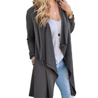 Wholesale Viscose Blends Womens Long Cardigans Solid High Low Long Sleeve Open Front Cardigan from china suppliers