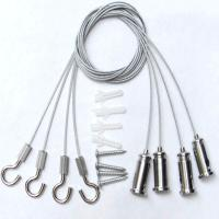 Wholesale 4 Sets Steel Wire Nickel Plate Lamp Hanging Kit With Adjustable Hooks / Clips from china suppliers