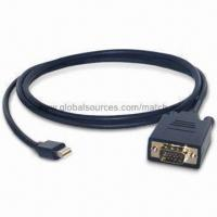 Wholesale DisplayPort to VGA Cable Adapter with Mini DP Male to VGA Male Connector from china suppliers