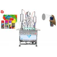 Wholesale Oil Based Spray Paint Filling Machine , Semi Automatic Aerosol Can Filling Equipment from china suppliers