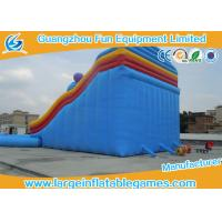 Quality Interactive Game Inflatable Water Slide And Pool Amusement Park , Fire Retardant 0.55mm PVC Mateiral for sale