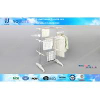 Wholesale Small Removable Mobile Metal Clothes Rack , Three Layer Foldable Clothes Drying Rack from china suppliers