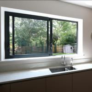 China Aluminium windows aluminium frame sliding glass window aluminium window grill design on sale