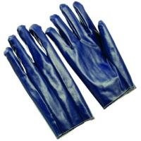 Wholesale Wrinkle finish rib cuff  fully dip Nitrile Coated Glove with jersey lining  for men NTITL from china suppliers