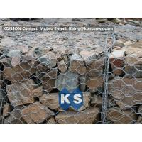 Wholesale PVC / Zinc Coated Wire Mesh Gabion Retaining Wall , Galvanized Hexagonal Wire Fence from china suppliers