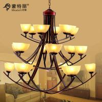 Wholesale Big Custom Hotel Wrought Iron Chandeliers With Shades , Metal Pendant Chandelier from china suppliers