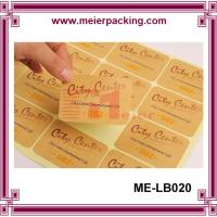 Wholesale Adhesive kraft paper label sticker for boutique products/None lamination brown paper sticker  ME-LB020 from china suppliers