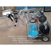 Wholesale Transparent Buckets Mobile Milking Machine For Farm Cow Milking , 25L from china suppliers