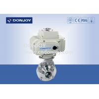 Wholesale 2 INCH 1.4301 butterfly Electric Sanitary Ball Valve with CIP clean function from china suppliers