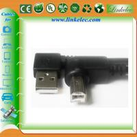 Wholesale 16FT ANGLE USB AM TO ANGLE BM,left angle AM TO Right angle BM cable from china suppliers