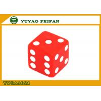 Wholesale 16mm Custom Acrylic Dice Two Six Sided Dice Set  Red Square Corner from china suppliers