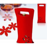Wholesale good quality New Design Promotion Cheap Customized Felt Wine Bag from china suppliers