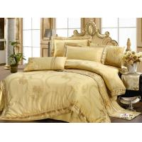 Wholesale Queen Complete Home / Hotel Gold Complete Satin Cotton Jacquard Bed Sets from china suppliers