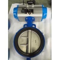 Wholesale DN65 Soft Seal Centerline Butterfly Valves Wafer Type With Pneumatic Actuator from china suppliers