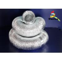 Wholesale 5 Inch Silvery Aluminum Flexible Duct , Flame Resistant Flexible Aluminium Ducting from china suppliers